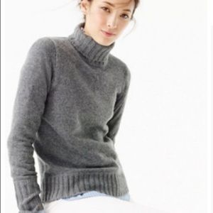J Crew Cashmere Turtleneck Sweater.
